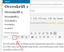 Overskriftskoder i wordpress