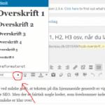 SEO overskrifter og underoverskrifter (H1, H2, H3 osv.)